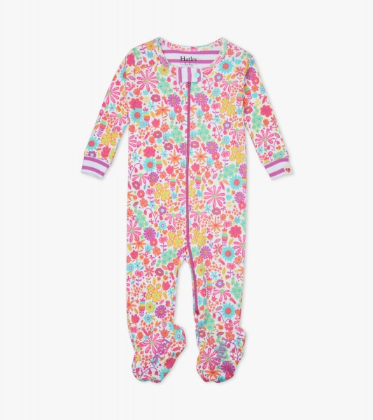 Mini Flowers Footed overall