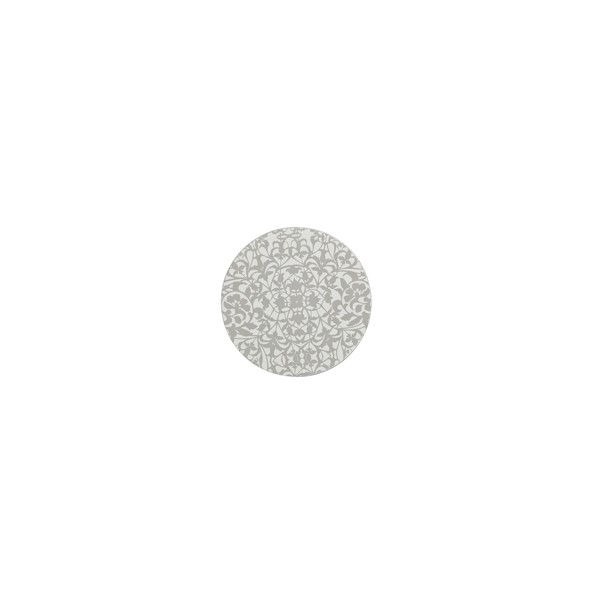 Denby Monsoon Filigree Silver Set of 4 Round Coasters