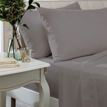 200 Thread Count Egyptian Cotton Flat Sheet - Silver