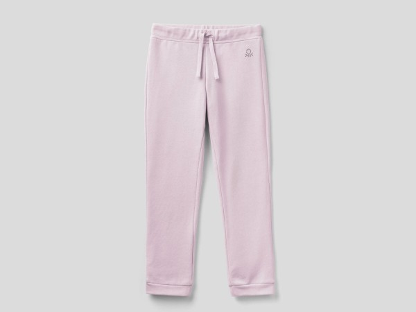 Girls Plain Joggers With Logo