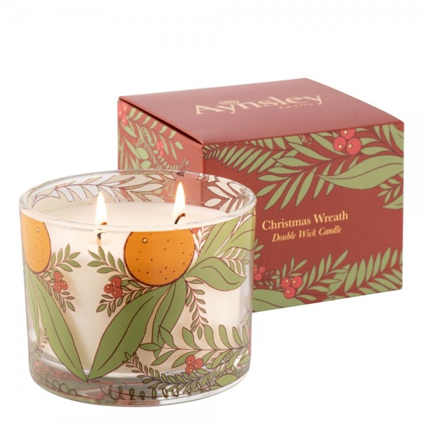 Christmas Wreath Candle - Red Currant & Star Anise