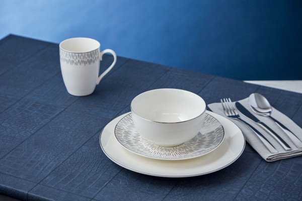 Simply Home Silver 12 Piece Dinner Set
