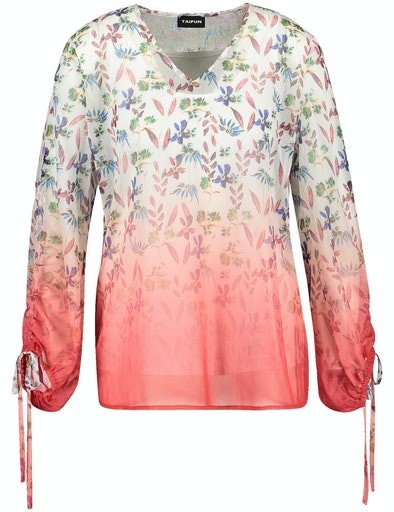 Jardin Tropical V-Neck Blouse