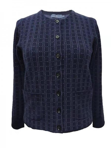 Jacquard Collar Jacket