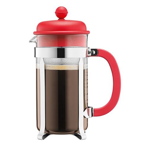 8 Cup Cafetiere Red