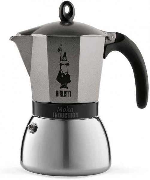 Moka Induction Antracite 9 Cup Espresso Maker