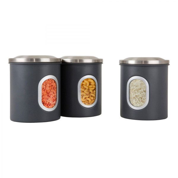 Denby Set of 3 Canisters - Grey