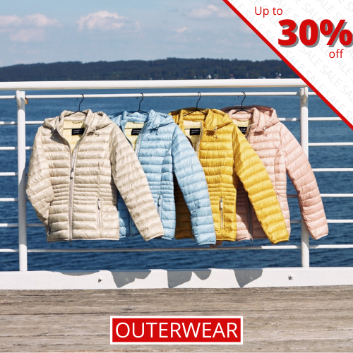 Outerwear - Up to 30% off