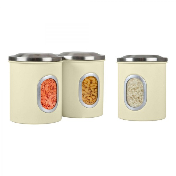 Denby Set of 3 Canisters - Cream