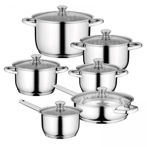 Essentials Saucepan Set Comfort 6 Piece