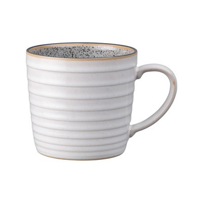 Studio Grey Ridged Mug Quartz White