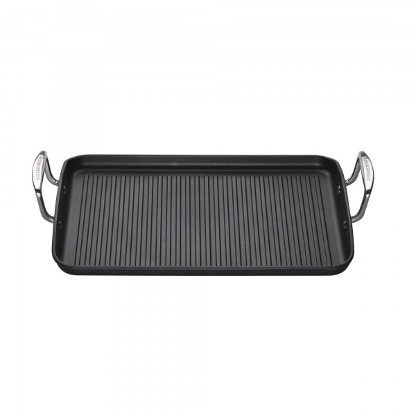 Toughened Non-Stick Ribbed Rectangular Grill 35cm