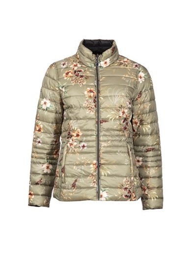 Short Padded Floral Jacket