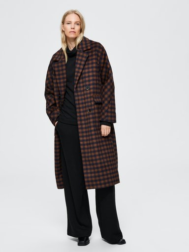 Element Check Wool Coat