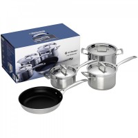 3-Ply 4 Piece Cookware Set