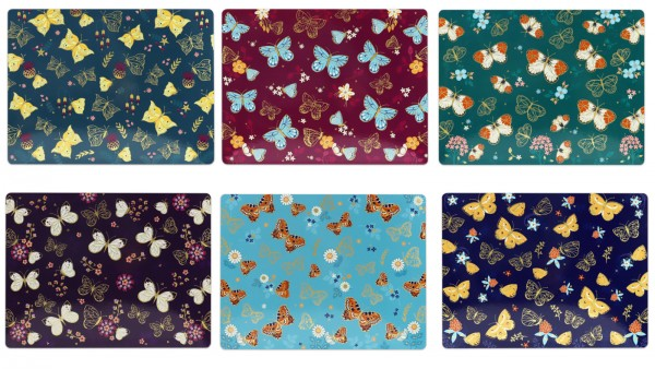 Butterfly Set Of 6 Placemats