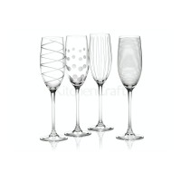 Cheers Set Of 4 Flute Glasses