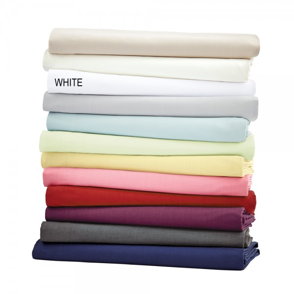 Helena Springfield Plain Dye White Standard Pillowcase