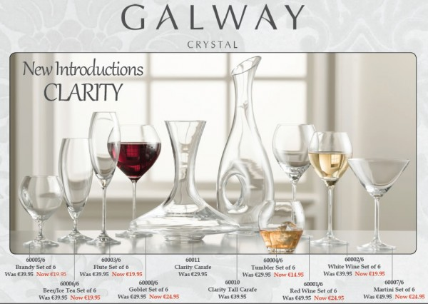 Galway Crystal Clarity Tall Carafe