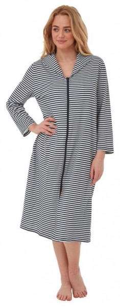 Cotton Zipped Dressing Gown