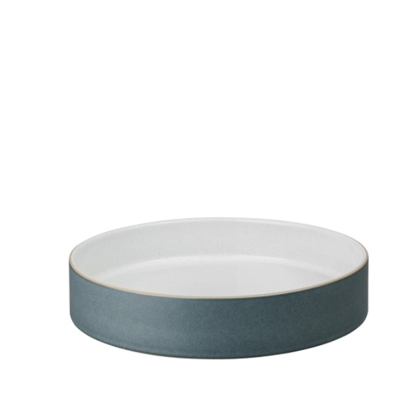 Impression Charcoal Blue Straight Round Tray