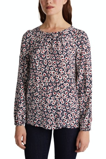 All Over Print Crepe Blouse